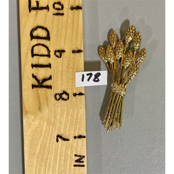 GOLD COLOURED WHEAT BROOCH