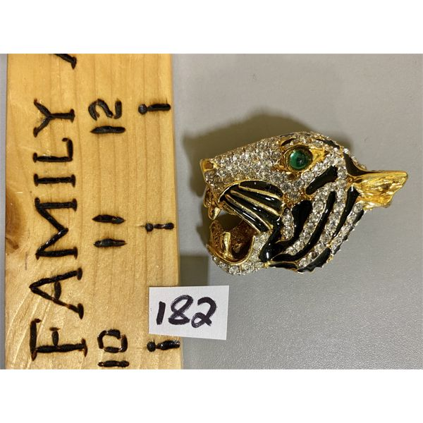 PANTHER HEAD BROOCH