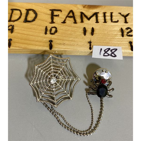 SPIDER AND WEB LAPEL PIN
