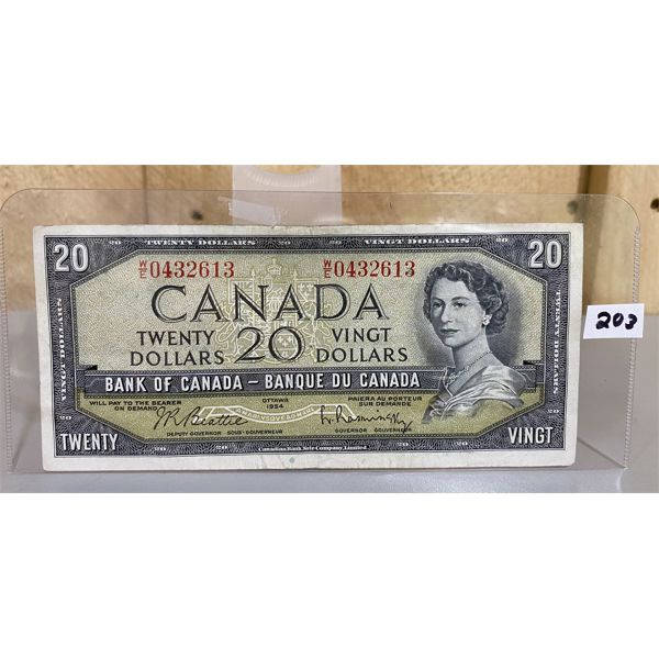1954 CANADA 20 DOLLAR BILL