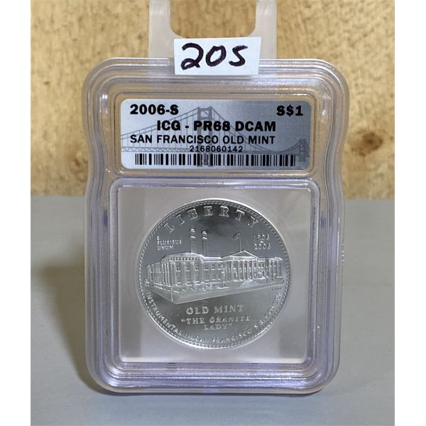 2006-S USA SAN FRANCISCO OLD MINT COMMEMERATIVE SILVER DOLLAR