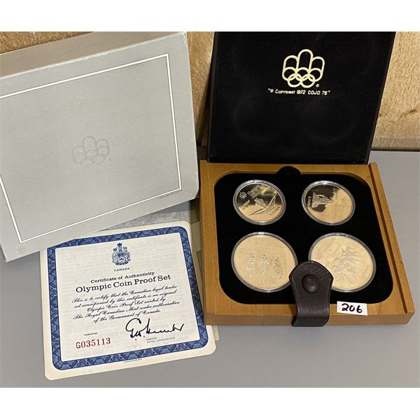 1976 CANADA OLYMPIC 92.5 SILVER COIN PROOF SET