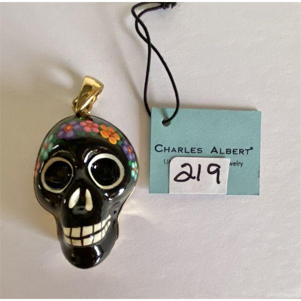 CHARLES ALBERT DESIGNER PENDANT - BLACK SKULL