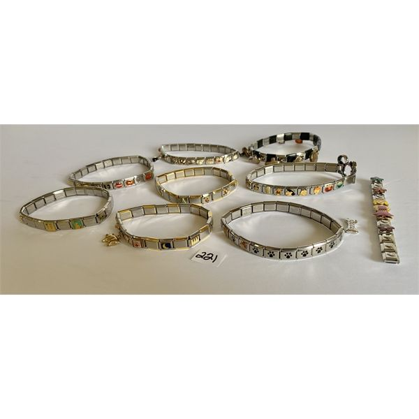LOT OF STAINLESS STEEL CHARMS - VARIOUS CHARACTERS