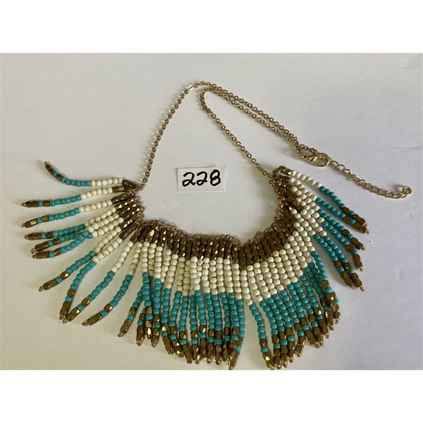 NATIVE INDIAN BEADED WESTERN NECKLACE - NO MARKINGS