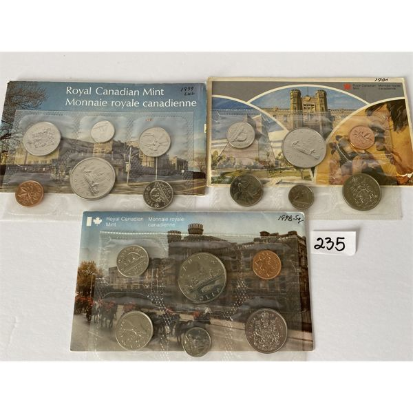 LOT OF 3 CANADIAN PROOF SETS - 1977 / 1978 / 1989