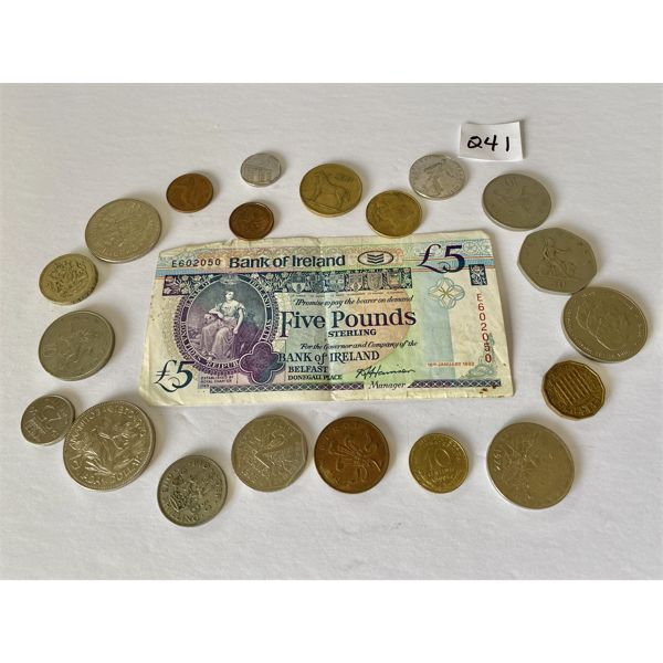 LOT OF MISC COINS & BILLS FROM AROUND THE WORLD