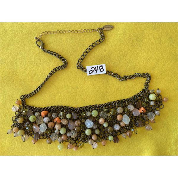 COLDWATER CREEK HEAVY BEADED NECKLACE