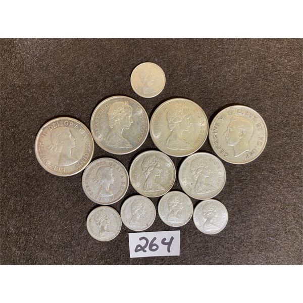 LOT OF CANADIAN SILVER COINS