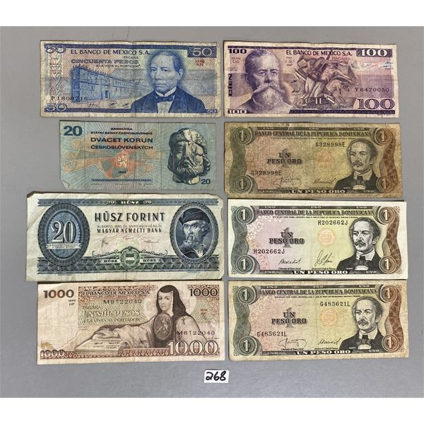 LOT OF FOREIGN PAPER CURRENCY
