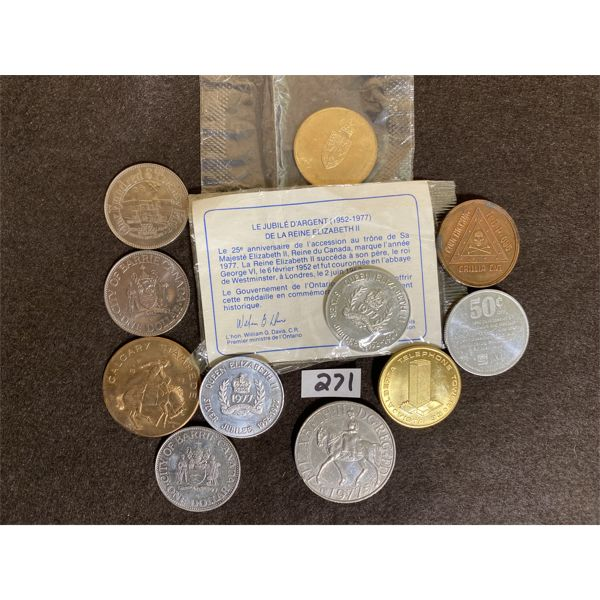 LOT OF CANADIAN TOKENS