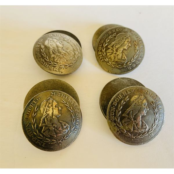 LOT OF 4 VINTAGE COIN STYLE BUTTONS