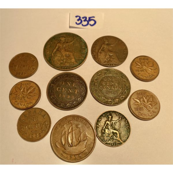 LOT OF PENNIES - 1898 T0 1962