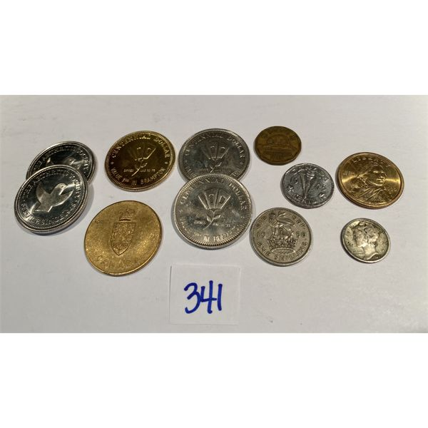 LOT OF 11 MISC COINS