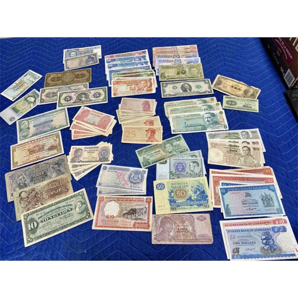 QTY OF CURRENCY FROM A LARGE VARIETY OF CONTRIES