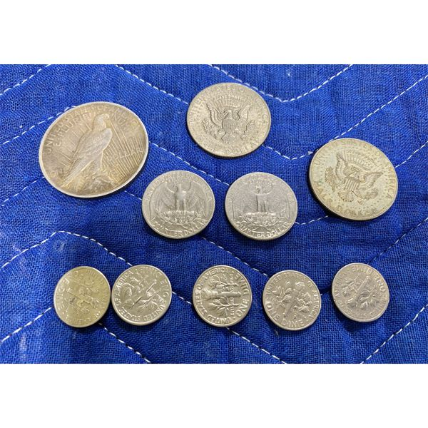 LOT OF MISC US COINS INCLUDING 1923 PEACE DOLLAR