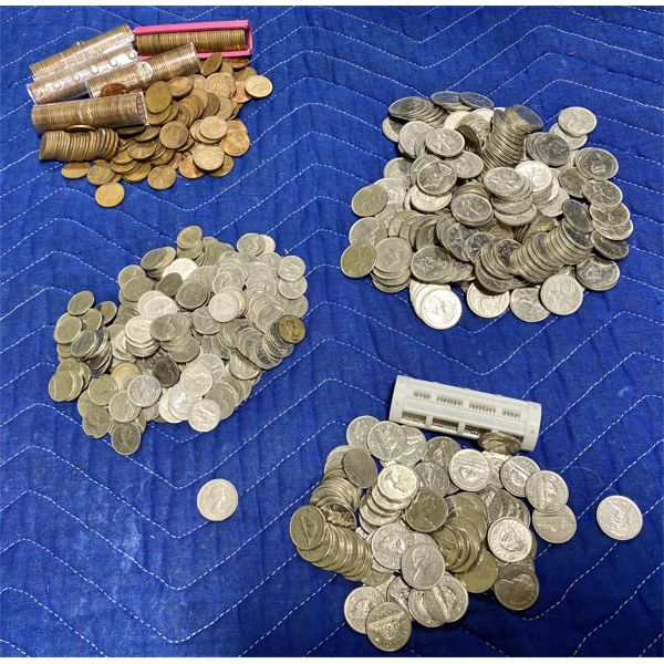 VERY LARGE QTY OF CND COINS - QUARTERS, DIMES, NICKLES, PENNIES