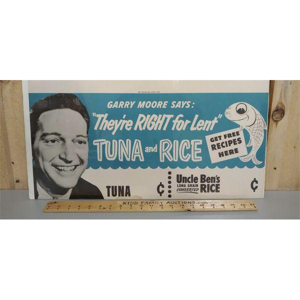 Gary Moore Tuna and Rice Cardboard Ad