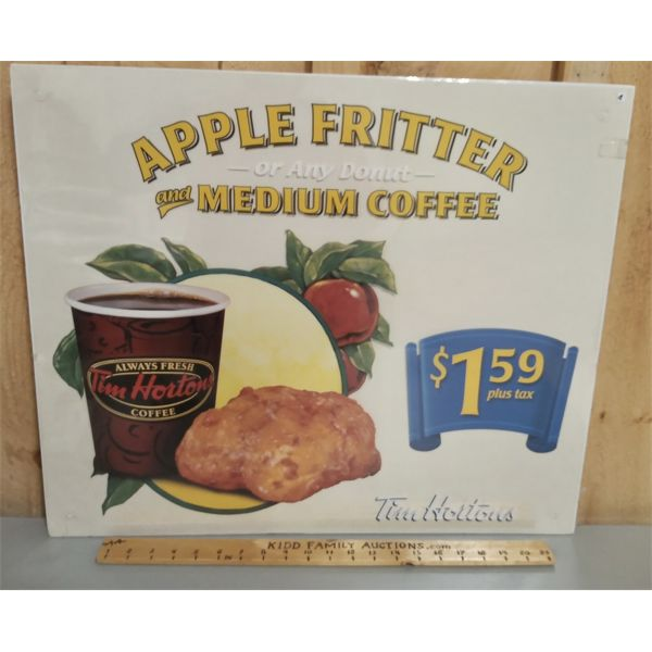 TIM HORTONS CARDBOARD ADVERTISMENT 25 X 21 INCHES