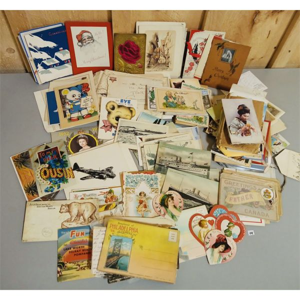 LARGE QTY OF POSTCARDS AND GREETING CARDS