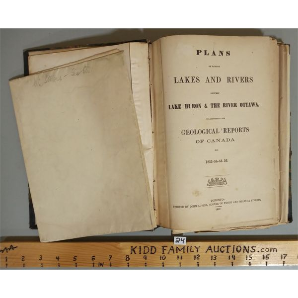 BOOKS OF CANADIAN GEOLOGICAL MAPS PUBLISHED 1857
