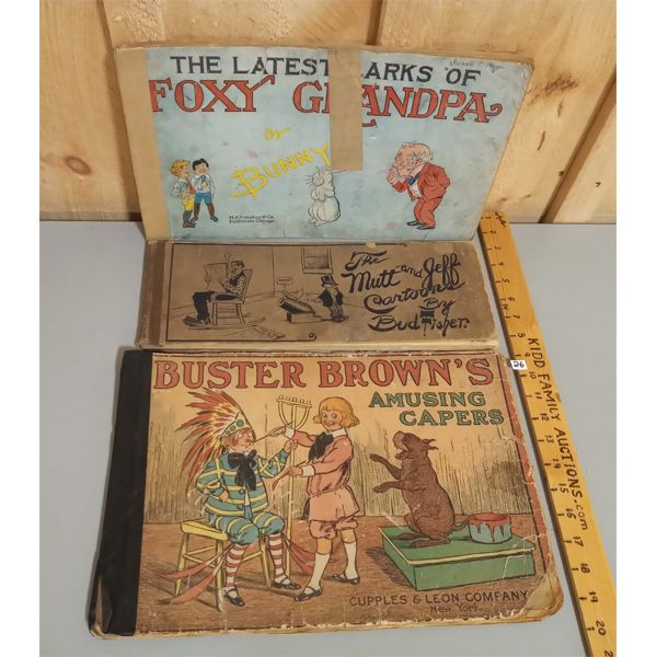 LOT OF 3 EARLY 1900S COMIC BOOKS