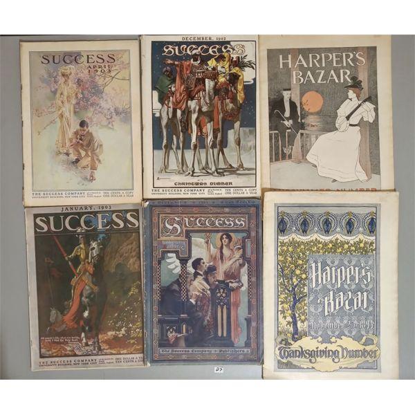LOT OF 6 ANTIQUE PUBLICATIONS