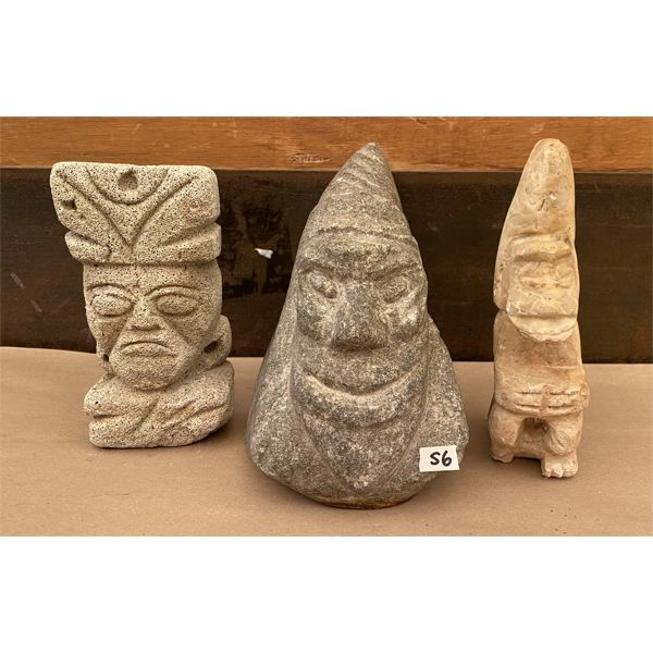 LOT OF 3 STONE FIGURES