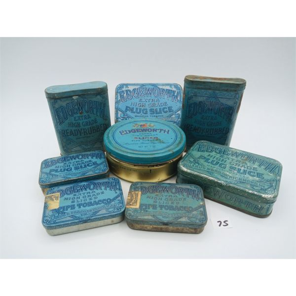 LOT OF 8 EDGEWORTH TOBACCO TINS