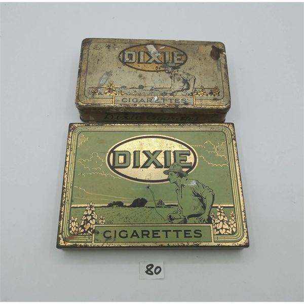 LOT OF TWO DIXIE CIGARETTE TINS