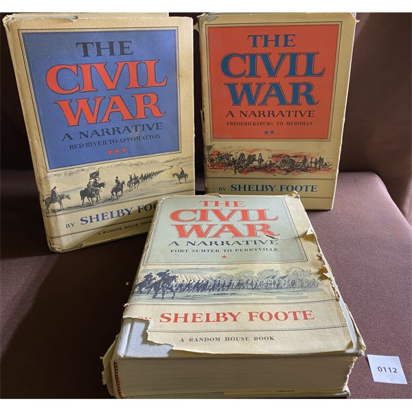3 VOLUME SET - THE CIVIL WAR - SHELBY FOOTE 1958