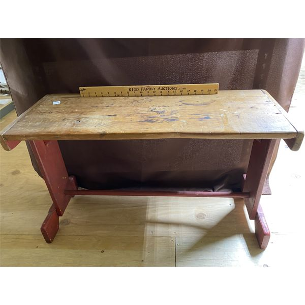 "ANTIQUE BENCH - 35"" X 14"" X 20"" H"