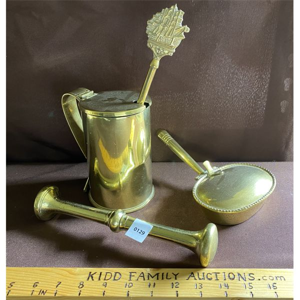 BRASS FIRESTARTER, TABLE BUTLER & KNIFE REST