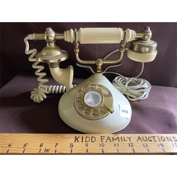 ANTIQUE LOOK PRINCESS STYLE ROTARY PHONE - WIRED