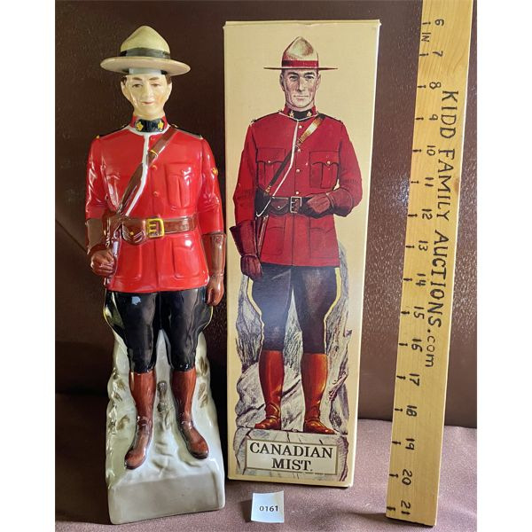 CANADIAN MIST WHISKEY - COLLINGWOOD - RCMP BOTTLE - EMPTY