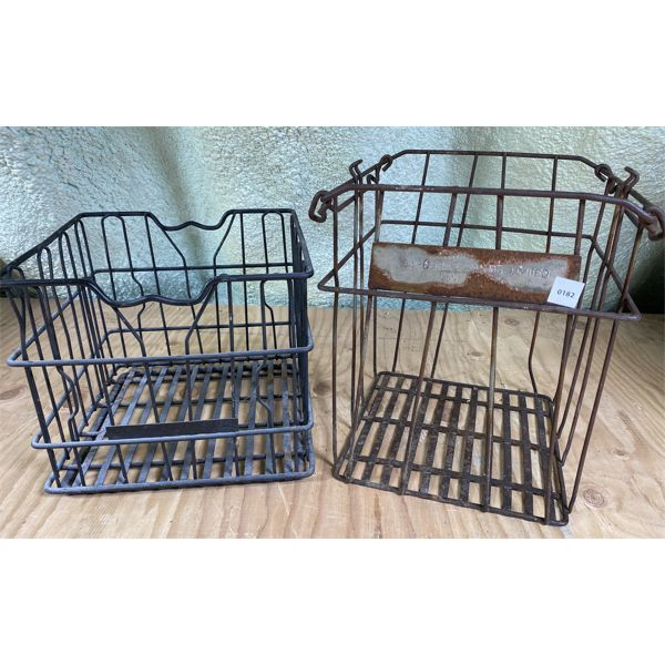 LOT OF 2 - DAIRY CRATES