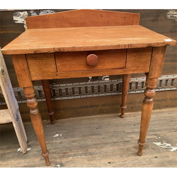 "ANTIQUE WASH STAND WITH SINGLE DRAWER - 27"" X 18"" X 29 H"