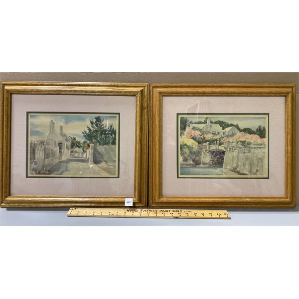 PAIR OF ADOLPH TREIDLER FRAMED WATERCOLOURS