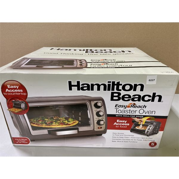 HAMILTON BEACH TOASTER OVEN - NEW IN BOX
