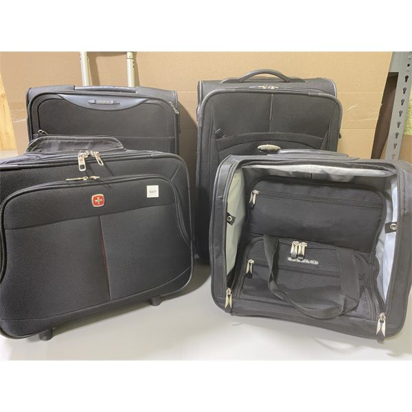 LOT OF 4 LUGGAGE PIECES - CARRY ON SIZE
