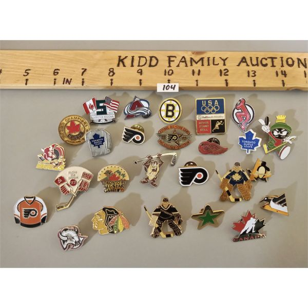 QTY OF COLLECTIBLE HOCKEY PINS