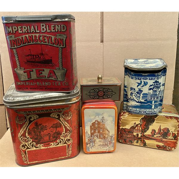 JOB LOT OF COLLECTIBLE TINS INCLUDING IMPERIAL TEA