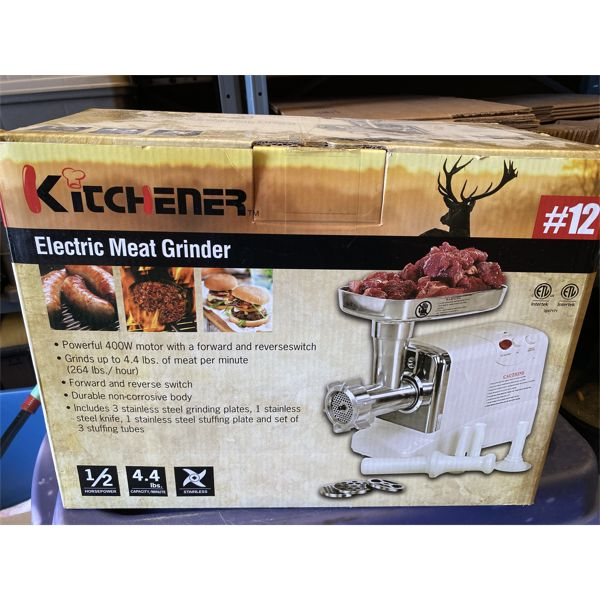 KITCHENER ELECTRIC MEAT GRINDER - LIKE NEW