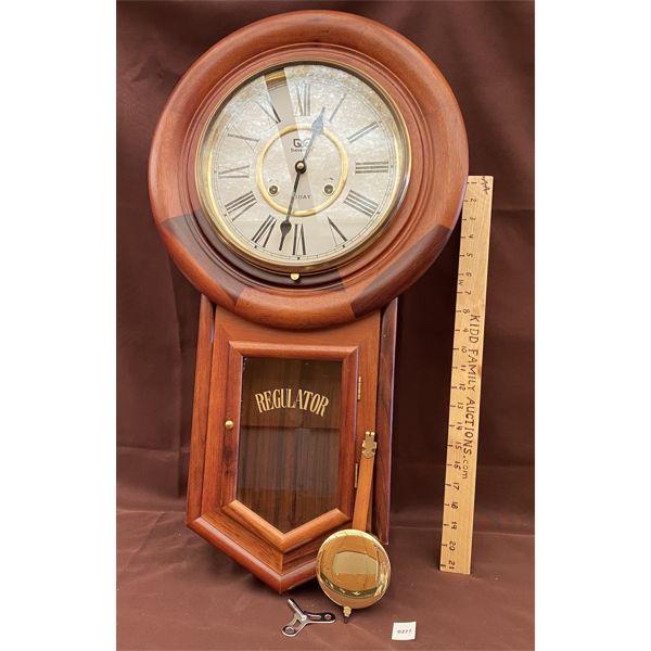 BEACON REGULATOR WALL CLOCK W/ KEY