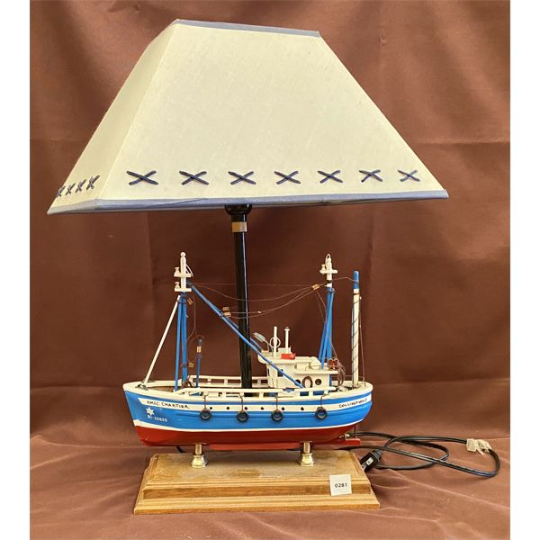 DECORATIVE BEDROOM LAMP - SAILING SHIP MOTIF