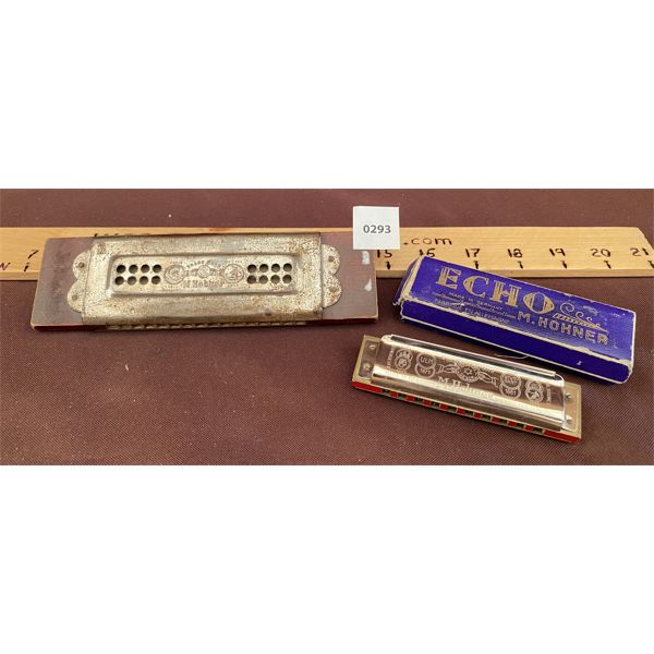 LOT OF 2 VINTAGE HOHNER HARMONICAS