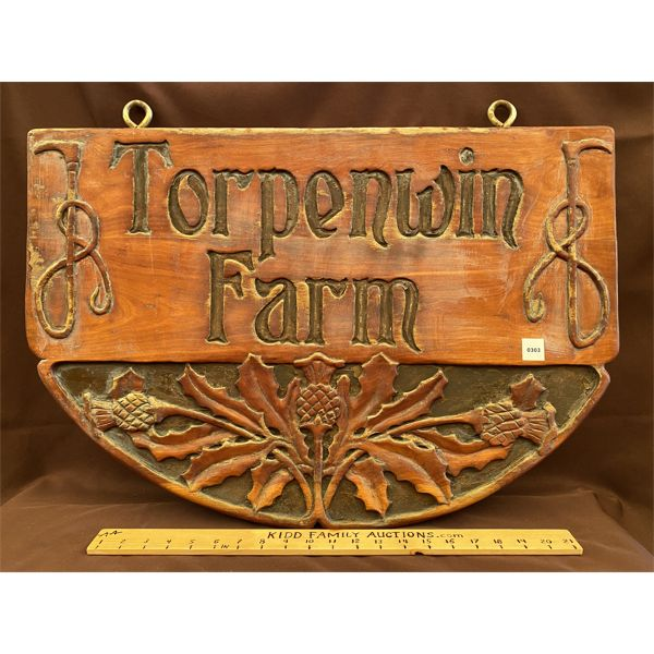 CARVED DOUBLE SIDED PROPERTY SIGN