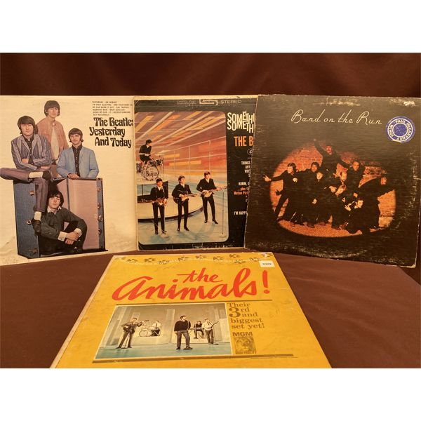 LOT 4 ALBUMS - THE BEATLES & THE ANIMALS