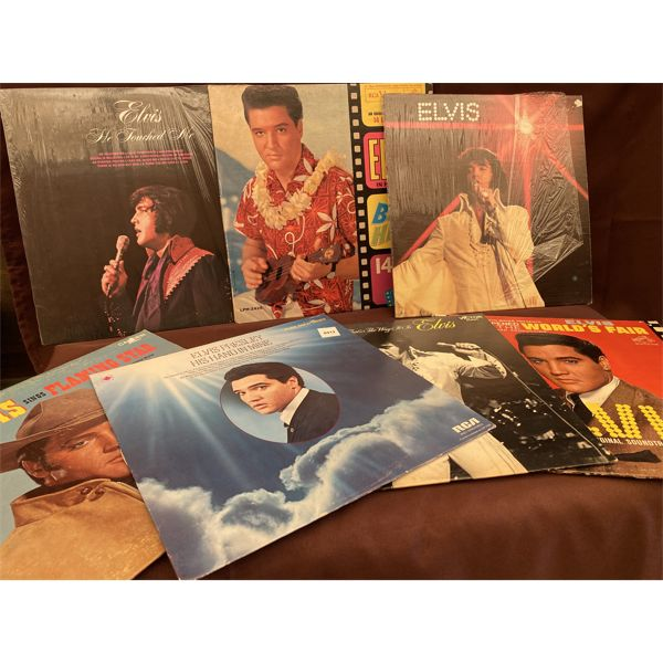 LOT OF 7 COLLECTIBLE ELVIS RECORD ALBUMS