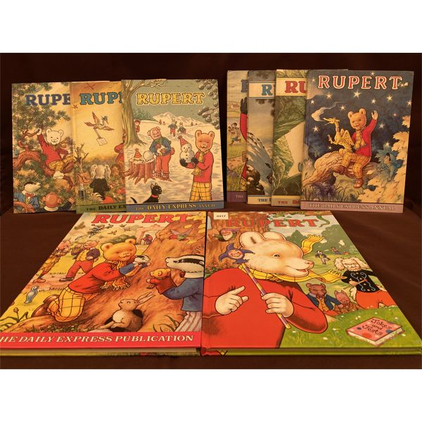 VINTAGE COLLECTION OF 'RUPERT' BOOKS